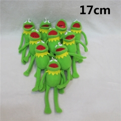 The Muppets Kermit The Frog Anime Cute Cartoon Plush Pendant 10pcs/set
