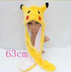 Pokemon Pikachu Anime Plush Hat and Scarf Glove 63CM