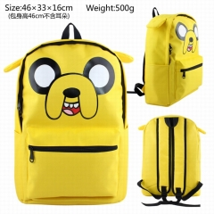 Adventure Time Jake School Cartoon Bag Canvas Stereoscopic Anime Backpack