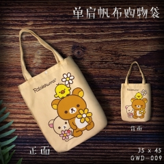 Rilakkuma Single Shoulder Bag Cartoon Canvas Anime Shopping Bag