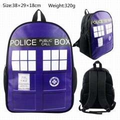 Doctor Who Teenages Travel Bag PU Canvas Anime Backpack