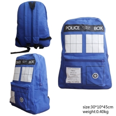 Doctor Who Anime Popular Style Blue Sudents Backpack