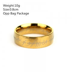 The Lord of the Rings Stainless Steel Anime Ring Set