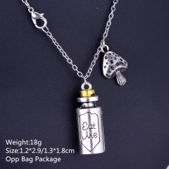 Alice in Wonderland Medicine Bottle Alloy Anime Necklace(10pcs/Set)