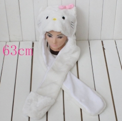 Hello Kitty Anime Plush Hat and Scarf Glove 63CM