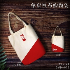 NBA Cosplay Basketball Sport Single Shoulder Bag Cartoon Canvas Anime Shopping Bag