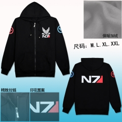 Mass Effect N7 Warm Thicken  Anime Hoodie