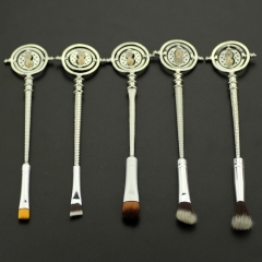 Magic American Movie Harry Potter Time Turner Alloy Brush Cosplay New Arrival Products Silver Color Anime Brush Set
