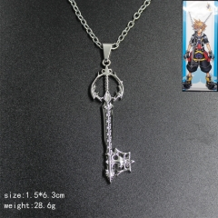 Kingdom Hearts Anime Fancy Key Style Metal Necklace