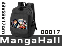 Tengen Toppa Gurren Lagann Cartoon Black School Bag Wholesale Anime Backpack