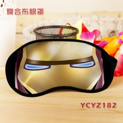 Iron Man Color Printing Cartoon Composite Cloth Anime Eyepatch