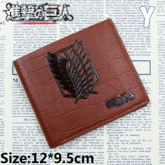 Attack On Titan Anime Cartoon Fancy Short Wallet