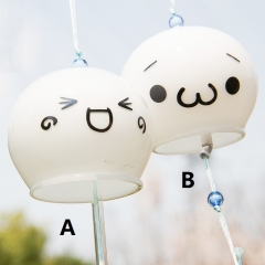 Kaomoji Two Designs Can Choose Glass Crafts Home Decoration Anime Windbell