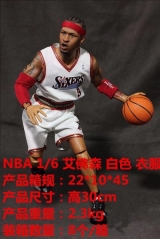 NBA Star 1:6 Allen Lverson White Costume Collectable Anime Action Figure 30CM