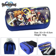 Kingdom Hearts Cartoon Pen Bag Wholesale Multifunctional Anime Pencil Bag For Student