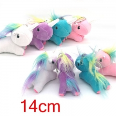 Popular Design Anime Unicorn Plush Cute Pendant 4pcs/Set