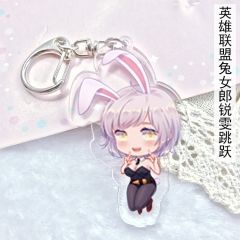 League Of Legends Game Riven Anime Cute Acrylic Keychain