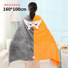 Natsume Yuujinchou Cartoon Shawl Wholesale Anime Cute Thick Blanket 160*100cm