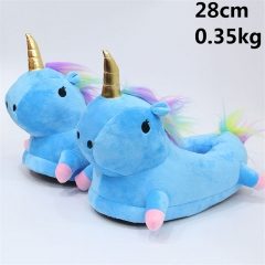 Japanese Cartoon Unicorn Anime Cute Blue Soft Plush Slipper 28cm