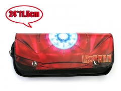 Marvel Iron Man Movie PU Leather Anime Fancy Pencil Bag