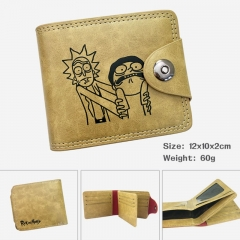 Rick and Morty Cartoon PU Purse Bi-fold Snap-fastener Anime Wallet 60g