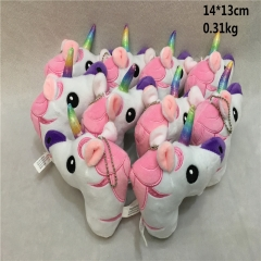 Japan Popular Unicorn Plush Pink Cute Pendant 10pcs/set