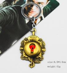 Fantastic Beasts and Where to Find Them Muggle Worthy Logo Pendant Keyring Bronze Anime Keychain