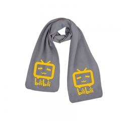 Bilibili Print Little TV Gray High Quality Warm Anime Scarf