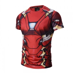 Iron Man Cartoon Tights Wholesale Printed Anime Short Sleeve T Shirt
