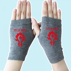 World of Warcraft Red Marks Gray Anime Gloves 14*8CM