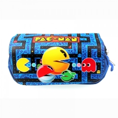 Pac-Man Cartoon Pencil Case Wholesale Hot Game Anime Pencil Bag
