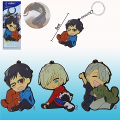 3 Designs Can Choose Yuri On Ice Figure Pendant Wholesale Anime Keychain
