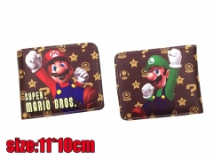 Fancy Super Mario Bros. Game PU Leather Cute Wallet