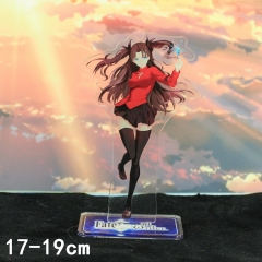 Fate Stay Night Tohsaka Rin Cartoon Toys Double Side Printed Anime Standing Plates Acrylic Figure