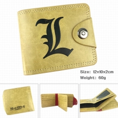 Death Note High Quality Cartoon Purse Wholesale PU Bifold Hasp Anime Wallet