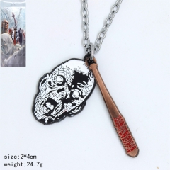 The Walking Dead Cosplay Baseball Pendant Anime Necklace