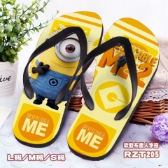 Despicable Me Cosplay Cartoon Soft Rubber Slippers Anime Flip-flops