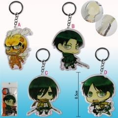 4 Styles Attack on Titan Cosplay Cute Pendant Anime Keychain