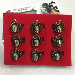 Bleach Cartoon Jewelry Wholesale Anime Rings Set Of 9 With Box