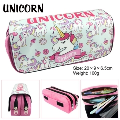 Unicorn Cartoon Cute Design Pen Case High Quality Anime Pencil Bag 100g