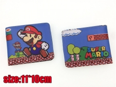 Super Mario Bros. Game PU Leather Cute Short Wallet