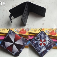 Resident Evil Cosplay Movie Folding Purse Anime Short Wallet