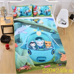 The Octonauts Barnacles Kwazii Polyester Anime Quilt Cover