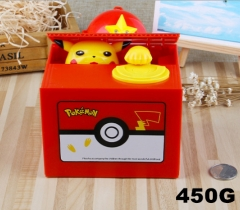 Pokemon Funny Stealing Money With Music Toy For Kid Anime Money Pot