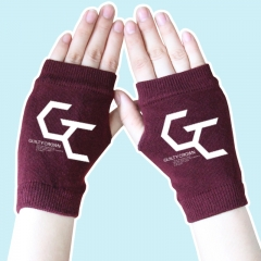 Super Power Cartoon Guilty Crown Half Finger Wine Anime Knitted Gloves 14*8CM