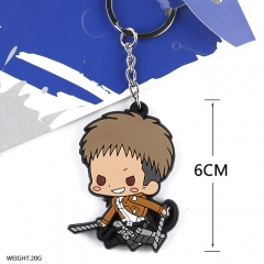 Attack on Titan Cosplay Soft Plastic Kirstein Pendant Anime Keychain