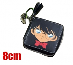 Detective Conan Cosplay Cartoon Coin Purse PU Leather Anime Wallet
