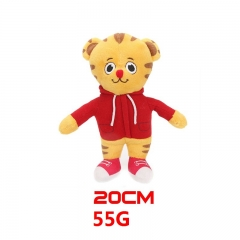 Daniel Tiger's Neighborhood Cartoon Stuffed Doll Tiger Model Anime Plush Toys 20cm 55g