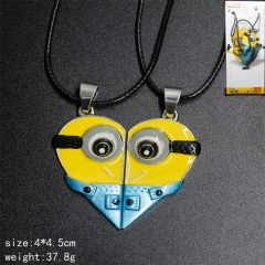 Despicable Me Cosplay Heart-shaped Pendant Anime Necklace