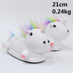Japanese Cartoon Unicorn Anime Cute Kids Soft Plush Slipper